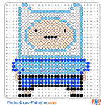 Adventure Time with Finn and Jake perler bead patterns web 7e573
