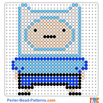Perler Bead Pattern Adventure Time with Finn and Jake