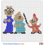 Alvin and the Chipmunks perler bead patterns web 8e6e4