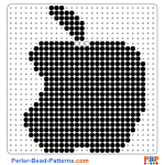 Apple Logo perler bead patterns web 57b01
