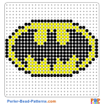 Batman Shield perler bead patterns web d57e0