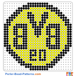 Borussia Dortmund perler bead patterns web e8856