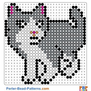 Perler Bead Pattern Cat