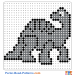Dinosaurs perler bead patterns web 41620