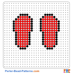 Flip Flops perler bead patterns web d3519