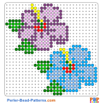 Flowers perler bead patterns web ac677