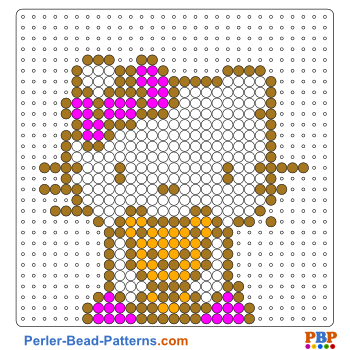 Perler Bead Pattern Hello Kitty with a Teddy