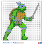 Leonardo perler bead patterns web 30a87