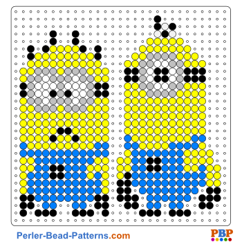 minions perler bead pattern and designs bead sprites printable pdf. Black Bedroom Furniture Sets. Home Design Ideas