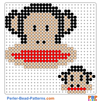 Perler Bead Pattern Monkey Paul Frank