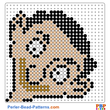 Perler Bead Pattern Mr Bean portrait