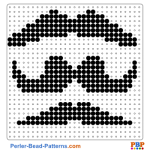 Mustache perler bead patterns web 0a468