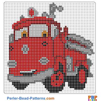 Perler Bead Pattern Red from Cars
