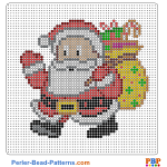 Santa Claus perler bead patterns web c5cbc