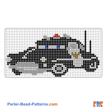 Perler Bead Pattern Sheriff from Cars