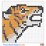 Small Tiger Head perler bead patterns web 98748