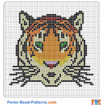 Tiger Head perler bead patterns web 35680