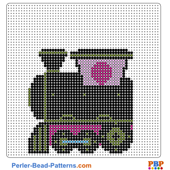 Perler Bead Pattern Train