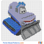 Yeti from Cars perler bead patterns web 90cd9