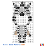 Zebra Picture Frame perler bead patterns web b35dc